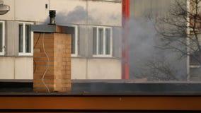 Chimney and Smoke stock footage