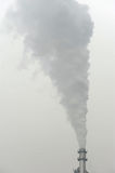 Chimney and smoke pollution Stock Image
