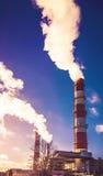 Chimney smoke Stock Image
