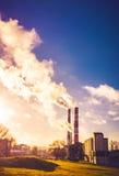Chimney smoke Stock Photography