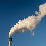 Chimney smoking / smoke stacks Stock Image