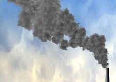 Chimney spewing smoke Royalty Free Stock Image