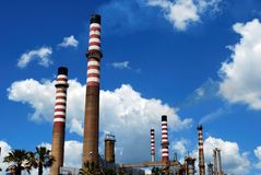 Chimney stacks, Andalusia, Spain. Royalty Free Stock Photography
