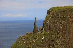 The chimney stacks at the Giant`s Causeway. Ulster Ireland, - July 20, 2016: The chimney stacks at the Giant`s Causeway on the north coast of County Antrim royalty free stock photo