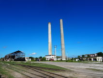 Chimney Stacks At Old Sugar Mill Stock Photography