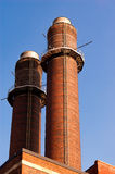 Chimney-stalk against blue sky Royalty Free Stock Photos