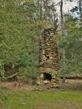 Chimney at Stone Mountain State Park Stock Photo