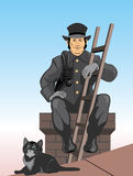 The chimney sweep. Vector color illustration the chimney sweep EPS8 format Stock Photography