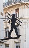 Chimney-sweep. Street detail with the chimney-sweep Royalty Free Stock Image