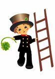 Chimney sweep. Of clover as a symbol of happiness Stock Images