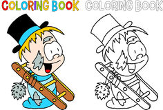 Chimney sweep - coloring book Royalty Free Stock Photography