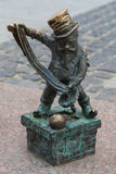 Chimney sweep dwarf in Wroclaw Stock Images