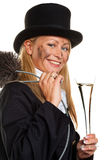 Chimney sweep. Lucky. Woman as a chimney sweep. Lucky New Year's Eve and New Year Stock Photos