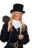 Chimney sweep. Lucky. Woman as a chimney sweep. Lucky New Year's Eve and New Year Royalty Free Stock Photography