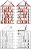 Chimney sweep maze Royalty Free Stock Image