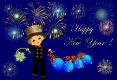Chimney Sweep and New Year, Royalty Free Stock Image