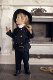 Chimney Sweep Playful Girl Royalty Free Stock Photography