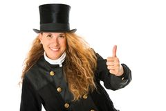 Chimney Sweeper. Happy chimney sweeper isolated on white Royalty Free Stock Photos