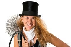 Chimney Sweeper. Happy chimney sweeper isolated on white Stock Images