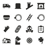 Chimney Sweeper Icons Stock Photography