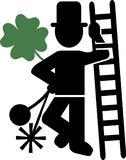 Chimney Sweeper Lucky. Green vector Stock Photo