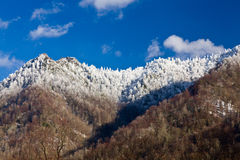 Chimney Tops in snow in smokies Royalty Free Stock Photography