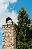 Chimney with tree Stock Images