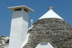 Chimney and Trullo in Alberobello Stock Photography
