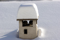 Chimney under the  snow Stock Images