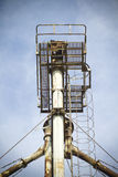 Chimney, View crop processing factory Stock Photography