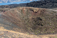 Chimney of volcano in Nea Kameni island near Santorini, Greece Stock Photography