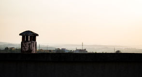 Chimney. A well placed chimney with a great view royalty free stock photography