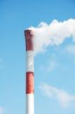 Chimney and white smoke Stock Photo