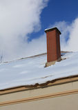 Chimney in winter Stock Photos