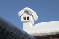 Chimney in winter , Stock Photos
