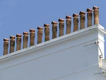 Chimneypots в длинной очереди Стоковые Изображения RF