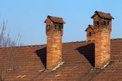 Chimneys Royalty Free Stock Photography
