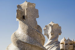 Chimneys by Antonio Gaudi Stock Photography