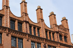 Chimneys on an art deco building in Manchester UK Stock Images