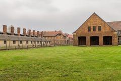 Chimneys of Auschwitz Stock Photo