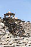 Chimneys, black architecture (province of Guadalajara, Spain) Stock Image