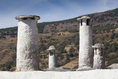 Chimneys in Capileira, Las Alpujarras, Granada province, Andalus Stock Photo