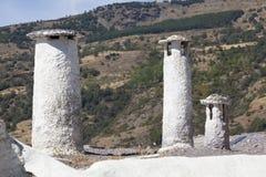 Chimneys in Capileira, Las Alpujarras Royalty Free Stock Images