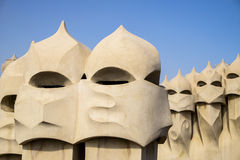 Chimneys Of Casa Mila Royalty Free Stock Images