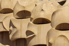 Chimneys of the Casa Mila (La Pedrera) Royalty Free Stock Photo