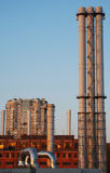 Chimneys in the city Stock Photography