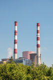 Chimneys of coal power plant Stock Photography