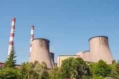 Chimneys of coal power plant Royalty Free Stock Photo