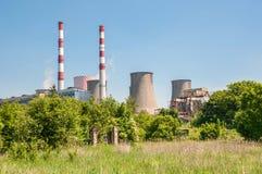 Chimneys of coal power plant Royalty Free Stock Image