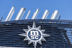 Chimneys of a cruise Royalty Free Stock Images